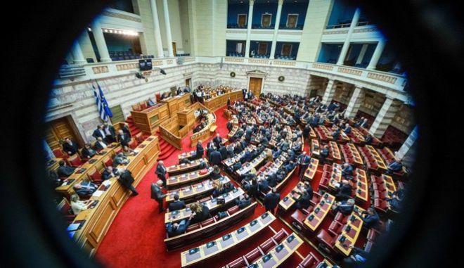 Στιγμιότυπο από συζήτηση στην Ολομέλεια της Βουλής