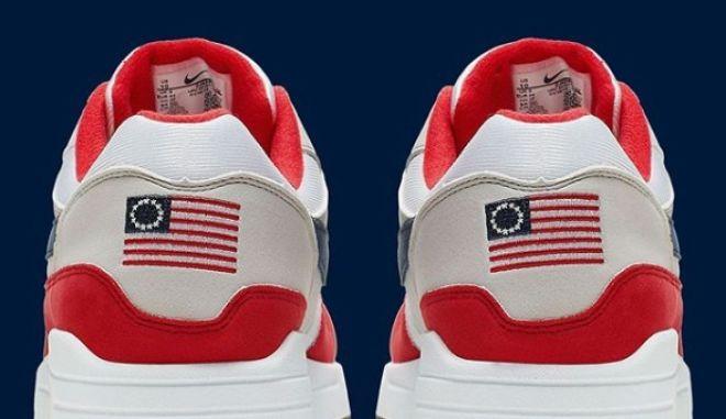 Nike: Απέσυρε παπούτσια με τη ρατσιστική Μπέτσι Ρος και το σφυροδρέπανο