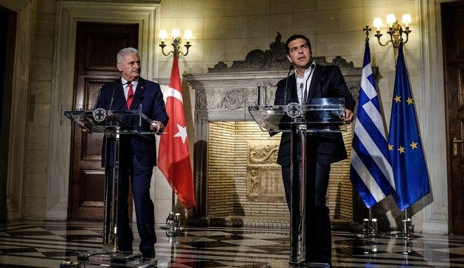 Meeting between the Prime Minister of Greece, Alexis Tsipras, and his Turkish counterpart Benali Yildirim, in Athens, on June 19, 2017 /           Benali Yildirim,   19, 2017