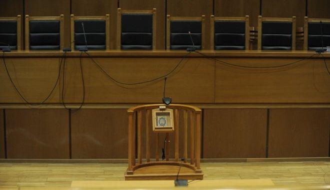 Η αίθουσα του Εφετείου Aθηνών