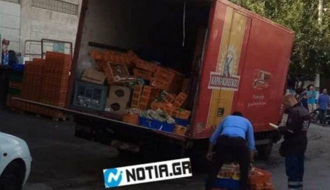 Φρικτό δυστύχημα στη Ηλιούπολη: Πώς καταπλακώθηκε ο οδηγός από το φορτηγό του