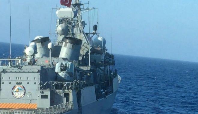Η ζημιά που προκλήθηκε στην τουρκική φρεγάτα
