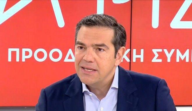 Ο Αλέξης Τσίπρας στο κανάλι του OPEN