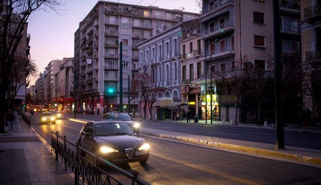 Στιγμιότυπο από lockdown στην Αθήνα