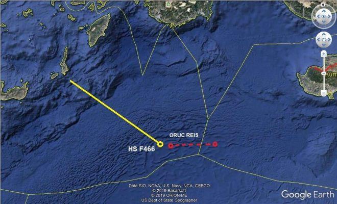 Αιγαίο: Πού βρίσκεται το Oruc Reis και πού η φρεγάτα Νικηφόρος Φωκάς