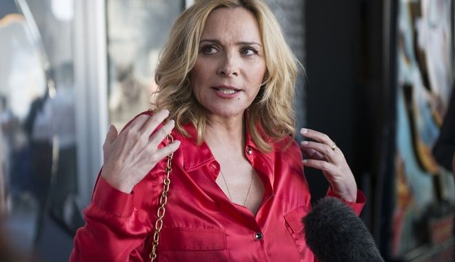 "Actress Kim Cattrall seen at the screening of ""Sensitive Skin"" on Thursday, July 17, 2014, in Toronto, Canada. (Photo by Arthur Mola/Invision/AP)"
