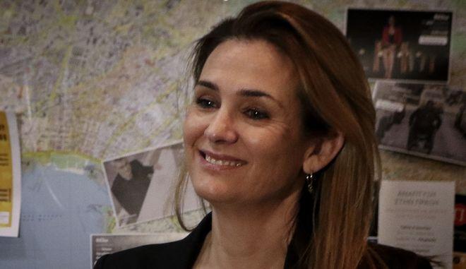 Η εκπρόσωπος Τύπου του Ποταμιού Κατερινα Μπακογιαννη