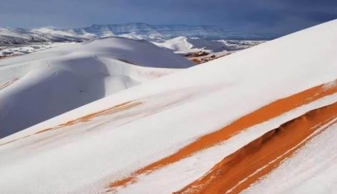 Τρελάθηκε ο καιρός- Έριξε χιόνι στη Σαχάρα, πάγωσε ο Ατλαντικός στις ΗΠΑ