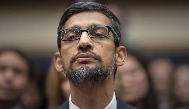 Ο διευθύνων σύμβουλος της Google Σουντάρ Πιντσάι