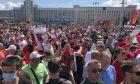 Διαδηλωτές στη Λευκορωσία