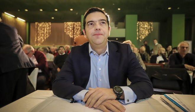 Στιγμιότυπο από συνεδρίαση της Κεντρικής Επιτροπής του ΣΥΡΙΖΑ
