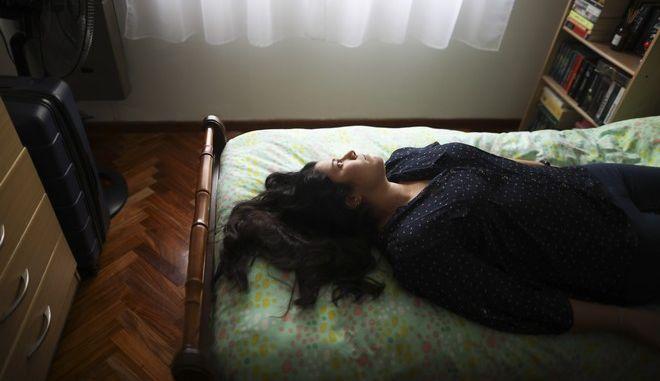 Γυναίκα κατά τη διάρκεια του Lockdown στην Αργεντινή