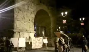 Διαμαρτυρία Παλαιστινίων στη Θεσσαλονίκη