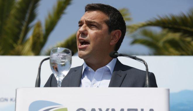 Παράδοση στην κυκλοφορία των σηράγγων Δερβενίου και τμήματος Κορίνθου-Κιάτου της Ολυμπίας Οδού παρουσία του πρωθυπουργού Αλέξη Τσίπρα την Παρασκευή 2 Σεπτεμβρίου 2016. Ο Αλέξης Τσίπρας, μαζί με τον υπουργό Υποδομών Χρήστο Σπίρτζη, επιθεώρησαν τα εργοτάξια κατά μήκος της Ολυμπίας Οδού (αυτοκινητόδρομος Κορίνθου-Πατρών) αλλά και των εργασιών ολοκλήρωσης της σήραγγας Κλόκοβας της Ιονίας Οδού (αυτοκινητόδρομος Αντιρρίου-Ιωαννίνων). (EUROKINISSI/ΣΤΕΛΙΟΣ ΜΙΣΙΝΑΣ)