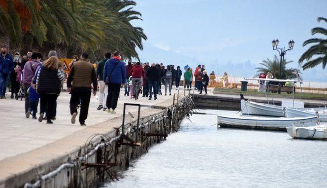 Εικόνα από το Ναύπλιο σε καιρό lockdown