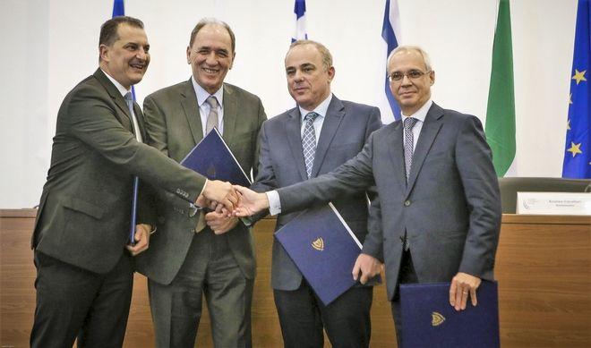 Συμμετοχή ΥΠΕΝ, Γιώργου Σταθάκη στην Τετραμερή Σύνοδο Ελλάδας, Κύπρου, Ισραήλ και Ιταλίας. (EUROKINISSI/ΥΠ. ΕΝΕΡΓΕΙΑΣ)