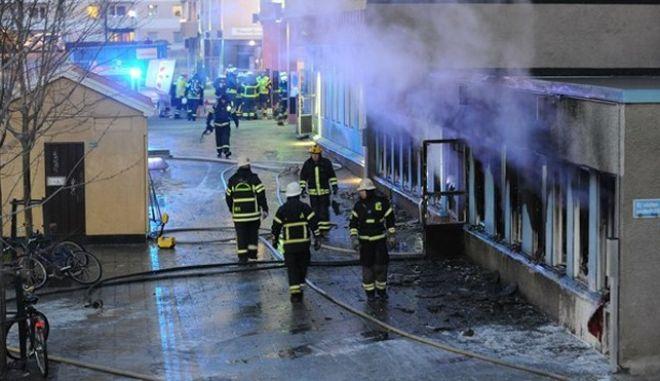 Πυρπόλησαν τέμενος στη Σουηδία. Στο νοσοκομείο πέντε άτομα