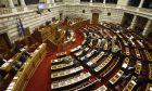 ΑΘΗΝΑ-ΒΟΥΛΗ-Μόνη συζήτηση και ψήφιση επί της αρχής, των άρθρων και του συνόλου του σχεδίου νόμου του Υπουργείου Υποδομών, Μεταφορών και Δικτύων  «Σύσταση Αρχής Πολιτικής Αεροπορίας, Αναδιάρθρωση της Υπηρεσίας Πολιτικής Αεροπορίας και άλλες διατάξεις».(EUROKINISSI/ΓΙΩΡΓΟΣ ΚΟΝΤΑΡΙΝΗΣ)