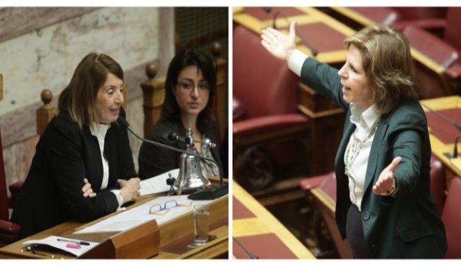 Καβγάς κυριών στη Βουλή για  λιάσιμο, προσφυγικό και επίπεδο μηδέν