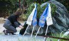 Κατάθεση στεφάνου στο Πολυτεχνείο από την Πρόεδρο της Δημοκρατίας Κατερίνα Σακελλαροπούλου