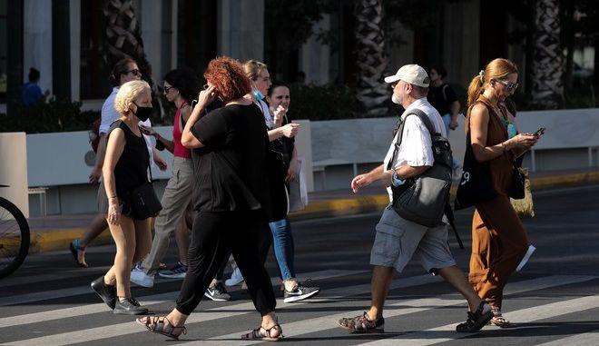 Πολίτες στην Αθήνα.