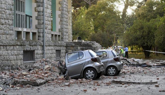 Υλικές ζημιές από τον σεισμό στην Αλβανία