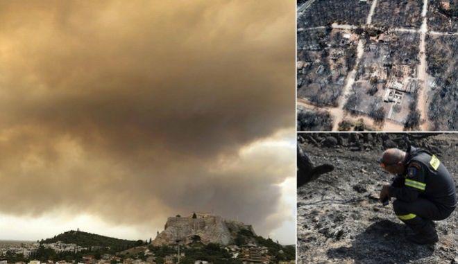Φωτιά στο Μάτι: Δέκα συγκλονιστικά καρέ που αποτυπώνουν τον πύρινο εφιάλτη