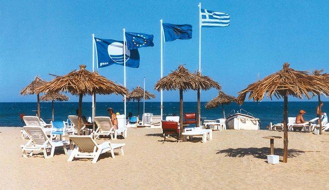 Γαλάζια σημαία σε παραλία, Αρχείο