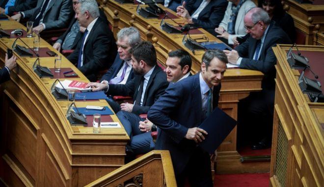 Στιγμιότυπο από τη συζήτηση στη Βουλή