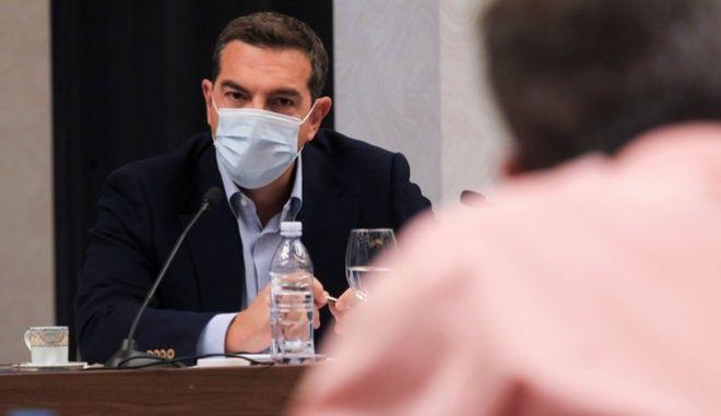 Συνάντηση του προέδρου του ΣΥΡΙΖΑ-ΠΣ με παραγωγικούς φορείς της Βόρειας Ελλάδας ενόψει της ΔΕΘ.