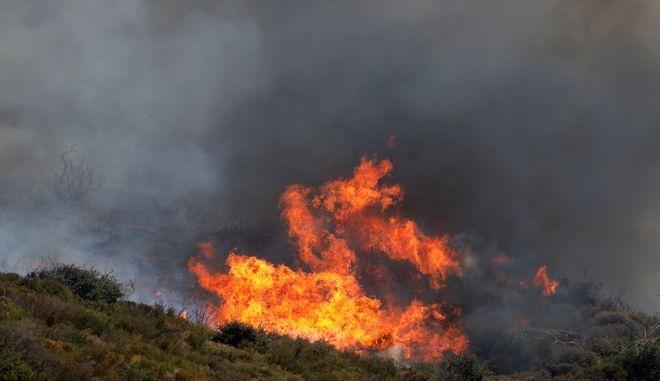 Σέρρες: Συνεχίζεται η μάχη με τις φλόγες στην Αλιστράτη