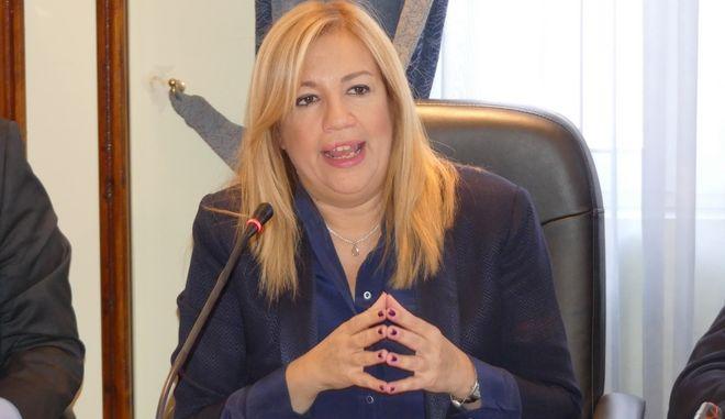Η πρόεδρος του ΚΙΝΑΛ Φώφη Γεννηματά