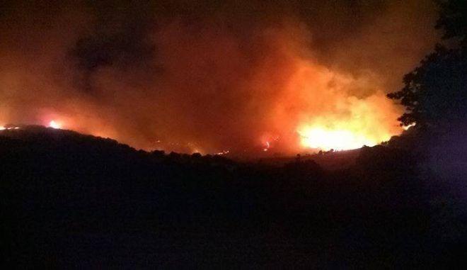 Μεγάλη πυρκαγιά στην Σαμοθράκη