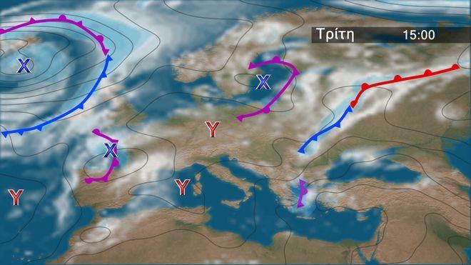 Ισχυρές καταιγίδες στα ανατολικά-Βελτίωση και μελτέμι από Τετάρτη
