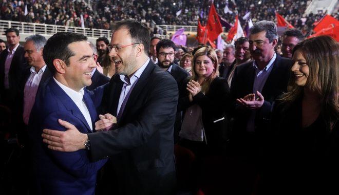 Ο Αλέξης Τσίπρας και ο Θανάσης Θεοχαρόπουλος