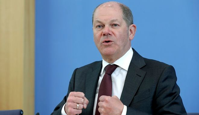 Ο υπουργός Οικονομικών της Γερμανίας, Όλαφ Σολτς