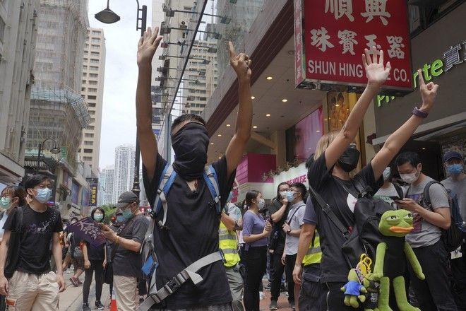 Διαδηλώσεις στο Χονγκ Κονγκ (AP Photo/Vincent Yu)(AP Photo/Vincent Yu)`