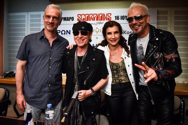 Συνέντευξη τύπου των Scorpions στο Μέγαρο Μουσικής Αθηνών