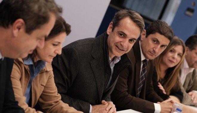 Ο Πρόεδρος της Νέας Δημοκρατίας, κ. Κ. Μητσοτάκης σε σύσκεψη με τους νέους Γραμματείς του Κόμματος, Πέμπτη 31 Ιανουαρίου 2019
