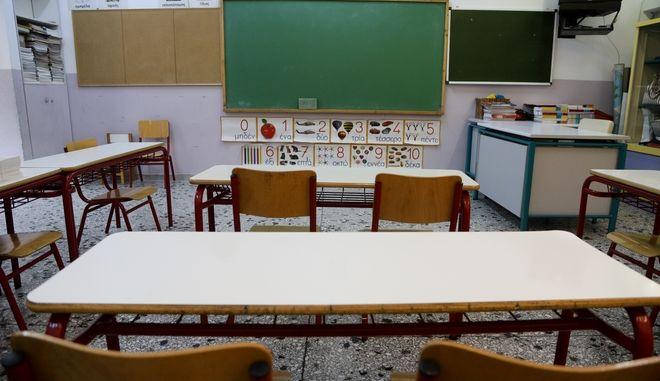 Αίθουσα διδασκαλίας στο 7ο Δημοτικό σχολείο στο Γαλάτσι