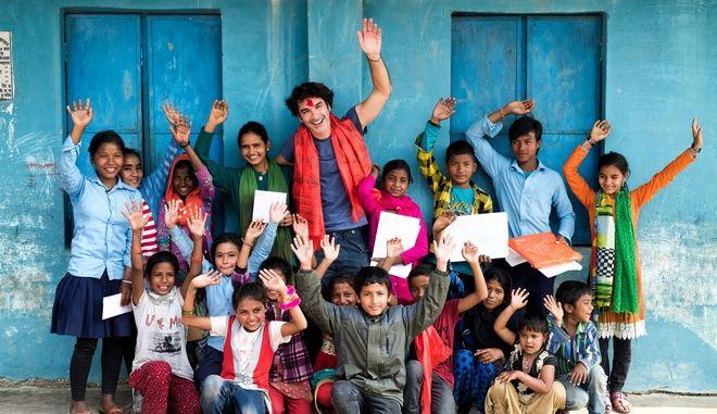 O Χριστόφορος Παπακαλιάτης στο Νεπάλ