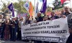 Διαμαρτυρία Τούρκων εργαζόμενων