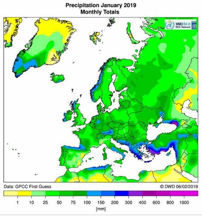 Ο ιδιαίτερα βροχερός μήνας Ιανουάριος