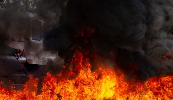 Φωτιά από έκρηξη (φωτογραφία αρχείου)
