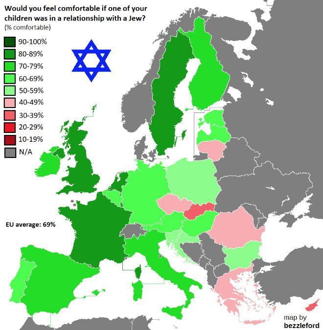 Χάρτης: Πόσο ρατσιστές είναι οι Έλληνες