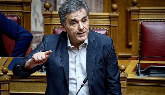 Συνέχιση της συζήτησης επί της προτάσεως του Πρωθυπουργού για παροχή ψήφου εμπιστοσύνης στην Κυβέρνηση, σύμφωνα με τα άρθρα 84 του Συντάγματος και 141 του Κανονισμού της Βουλής, την Παρασκευή 10 Μαΐου 2019.  (EUROKINISSI/ΓΙΑΝΝΗΣ ΠΑΝΑΓΟΠΟΥΛΟΣ)