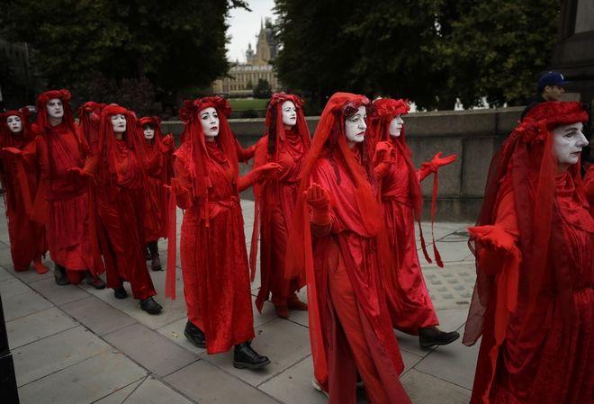 Διαδηλωτές για το κλίμα στη Βρετανία