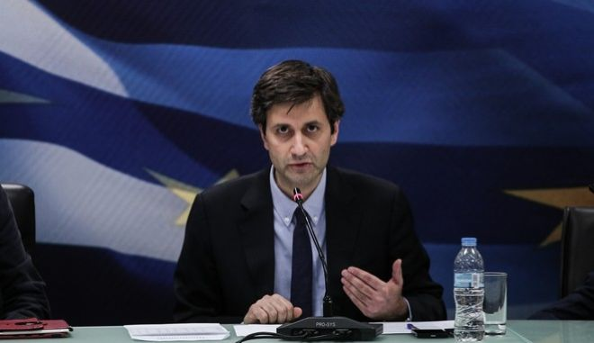 Press conference held by the Minister of Finance Euclid Tsakalotos and the Alternate Minister of Finance Giorgos Chouliarakis, in Athens, on May 26, 2016 /          ,  ,  26 , 2016