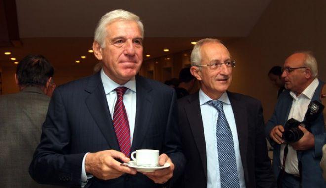11-10-2011-ΑΘΗΝΑ--Συνέδριο με τίτλο «Ελλάδα, Μεσόγειος & Αραβικός Κόσμος»// Στη φωτογραφία ο Γιάννος Παπαντωνίου,πρόεδρος του Κέντρου Ερευνών Προοδευτικής Πολιτικής (ΚΕΠΠ) και πρώην υπουργός Οικονομίας.(EUROKINISSI-ΓΙΑΝΝΗΣ ΠΑΝΑΓΟΠΟΥΛΟΣ)