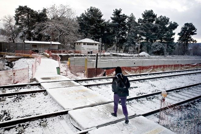 Snowfall in Central Greece on Dec. 29, 2016. /      29 , 2016